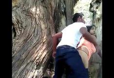 Novinha safadinha trepando no mato